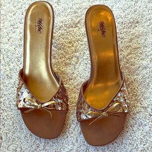 Mossimo gold sequin shoes